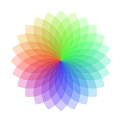 Colorful rainbow spriograph on white background