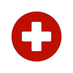 Red Medicine sign icon vector