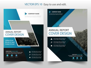 Blue Black Vector business proposal Leaflet Brochure Flyer template design, book cover layout design, abstract business presentation template, a4 size design