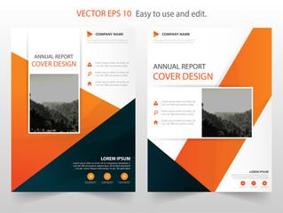 Orange Black Vector business proposal Leaflet Brochure Flyer template design, book cover layout design, abstract business presentation template, a4 size design