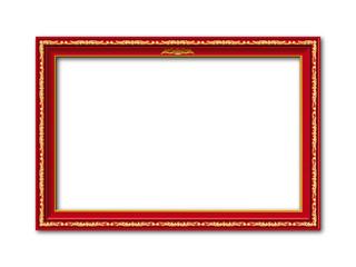 Mit Gold verzierter vintage Vektor Bilderrahmen für Weihnachten