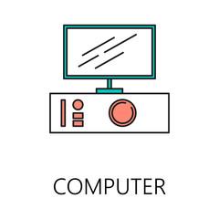 Computer line icon.