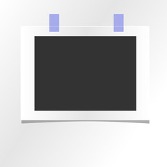 blank photo frame template design mockup
