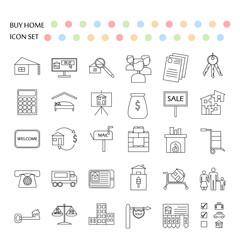 Buy home vector icon set