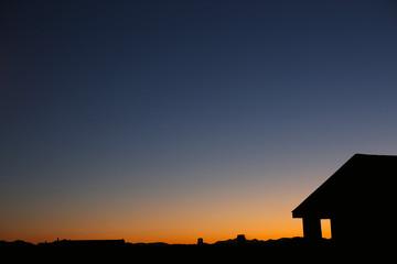 Sunset sky background. Sunrise mountains.