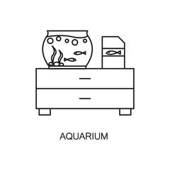 Aquarium line icon.