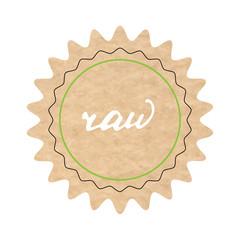 Raw, vector sign, hand-drawn illustration