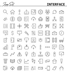 81 thin line icons for Web and Mobile. Light version.