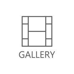 Gallery icon, simple gallery icon gallery symbol.