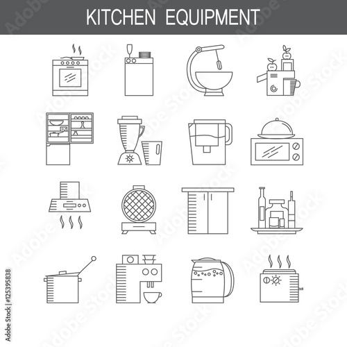 """""""Kitchen Hood Icon. High Quality Pictogram. Outline Vector"""