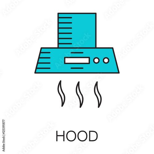 "Free Online Kitchen Design App: ""Kitchen Hood Icon. High Quality Pictogram. Outline Vector"