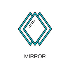 Mirror line icon.