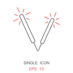 Christmas lollipop vector icon. Thin line pictogram for webdesign. Outline high quality sign for design websete, mobile app, logo.