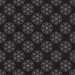 Alchemical round vector pattern.