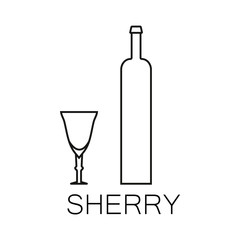 Alcoholic beverages line icon