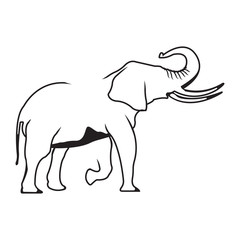 Vector logo elephant. Brand color silhouette icon.