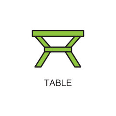 Table line icon.