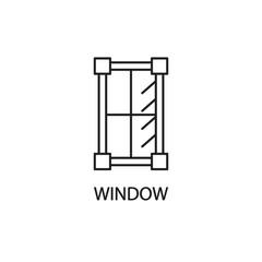 Window line icon.