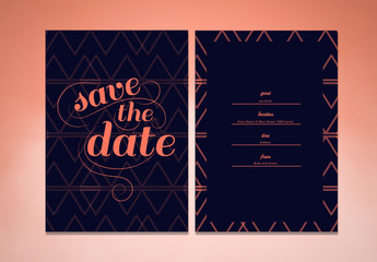 Save the Date Announcement and Invitiation Layout