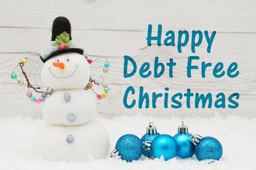 Debt Free message