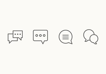 35 Minimalist Chat Icons