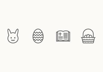 20 Minimalist Easter Icons