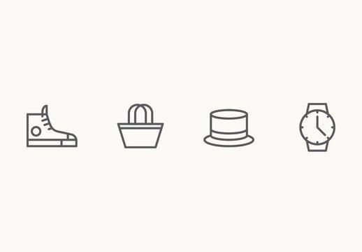 30 Minimalist Accesories Icons