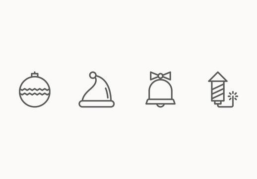 30 Minimalist Christmas Icons