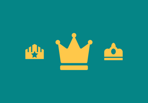28 Gold Crown Icons