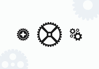 20 Gears Icons Set