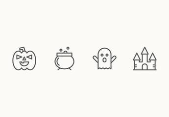 25 Minimalist Halloween Icons