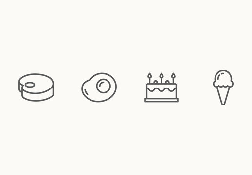 40 Assorted Food Icons