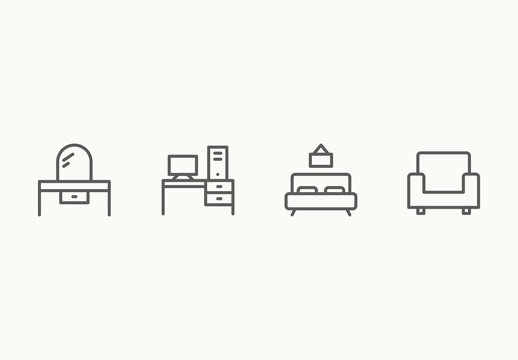 55 Minimalist Furniture Icons