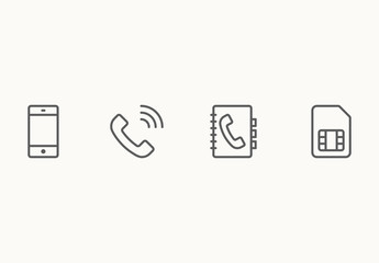 90 Minimalist Phone and Wireless Icons