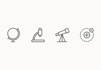 30 Minimalist Science Icons