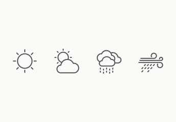 60 Minimalist Weather Icons