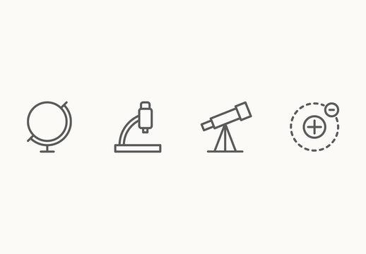 30 Minimalist Science Icons