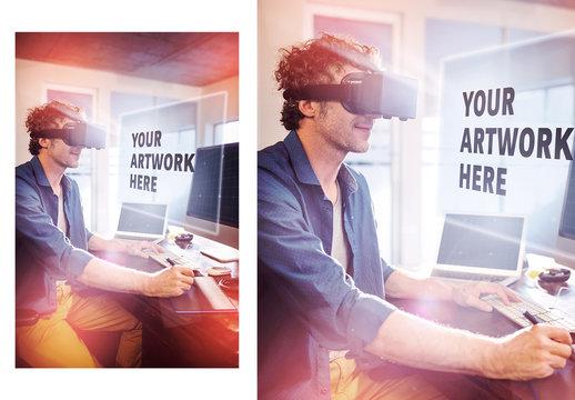 Man and Virtual Reality Headset 1