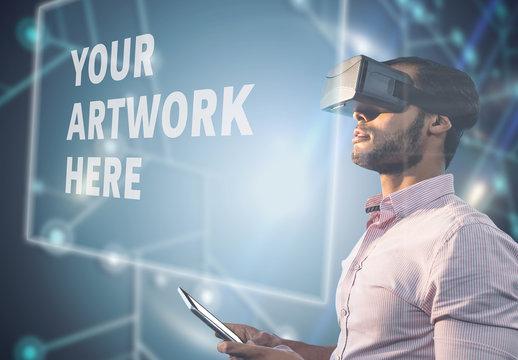 Man and Virtual Reality Headset 05