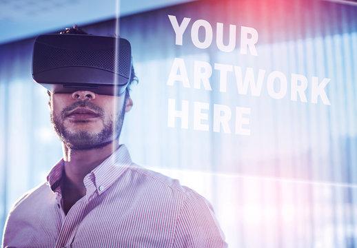 Man and Virtual Reality Headset 3