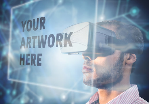 Man and Virtual Reality Headset 6