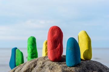 Colour on stones