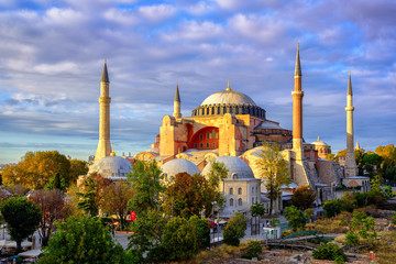 Hagia Sophia domes and minarets, Istanbul, Turkey
