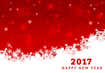 2017 new year greeting card background for winter