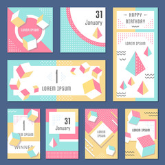Vector Set Geometric Pattern, Flyers and Banners