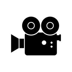 Movie camera vector icon