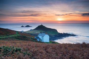 Wall Mural - Sunset over Cape Cornwall