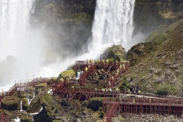 Beautiful close photo of the amazing Niagara waterfall US side