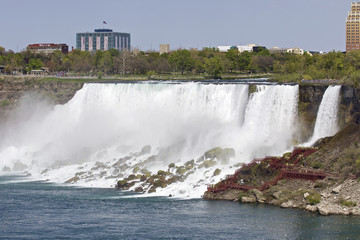 Beautiful photo of the amazing Niagara waterfall at the US side