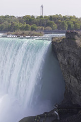 Beautiful isolated photo of the amazing Niagara falls from Canadian side
